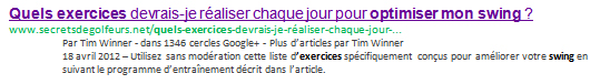 description page statut d'auteur google